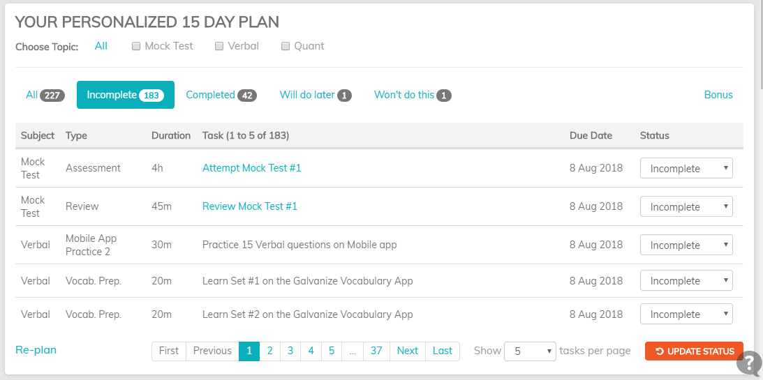 15 day plan for GRE Quant Practice