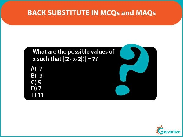 Back substitution in GRE math