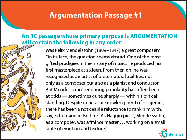 Argumentative passages example in GRE RC