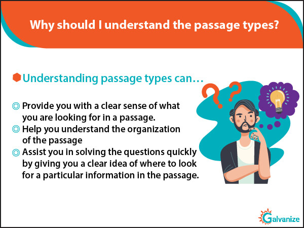 Need of understanding GRE comprehension passage types