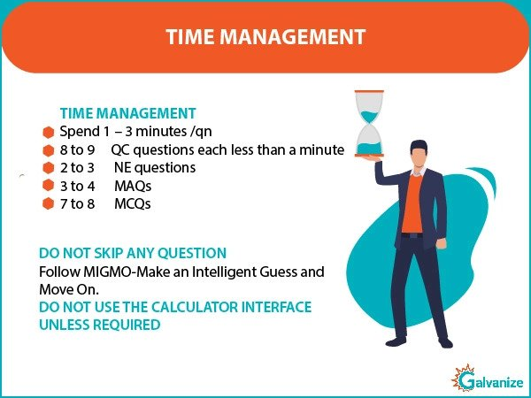 GRE Math - time management on the test day