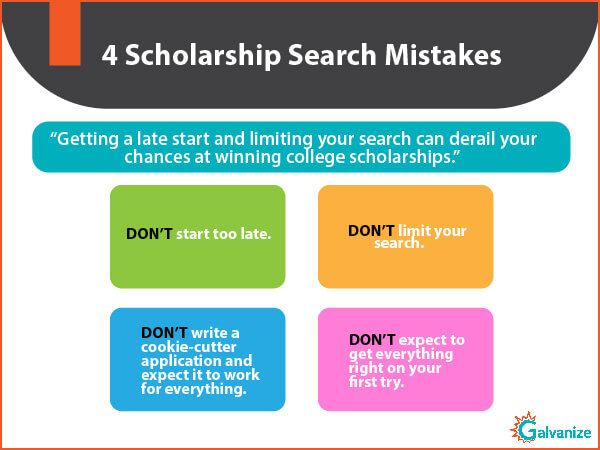 Indian Scholarship search mistakes