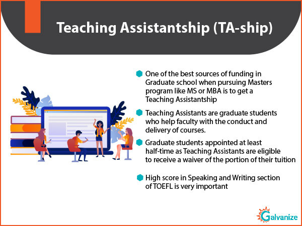 Teaching Assistantship for funding in graduate school | Importance of test score to get the financial aid for Indian students | Types of GRE scholarships