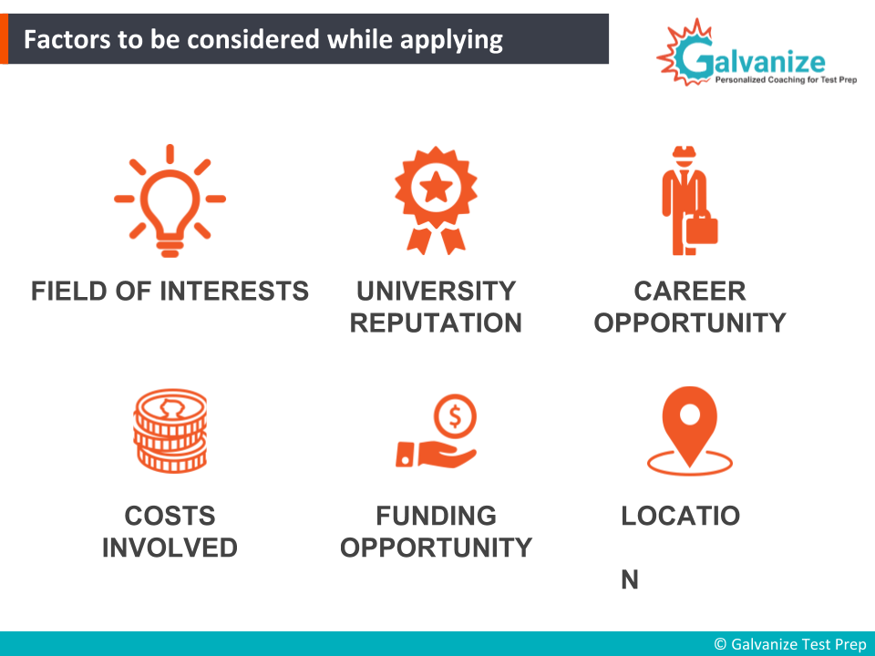 Factors to be considered while shortlisting the universities