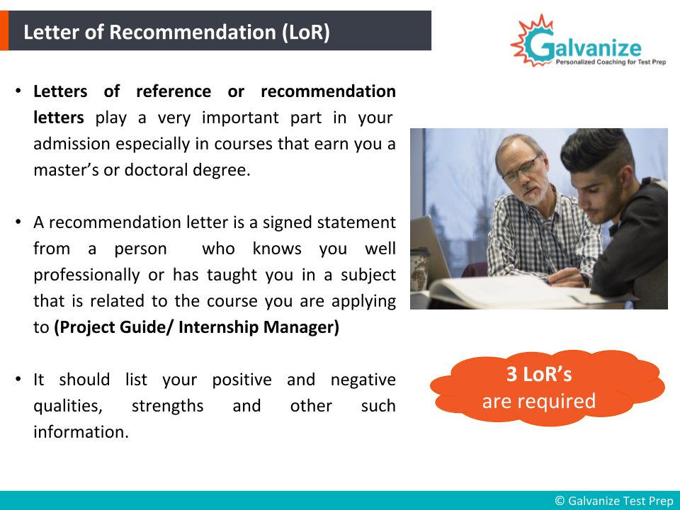 Letter of Recommendation definition