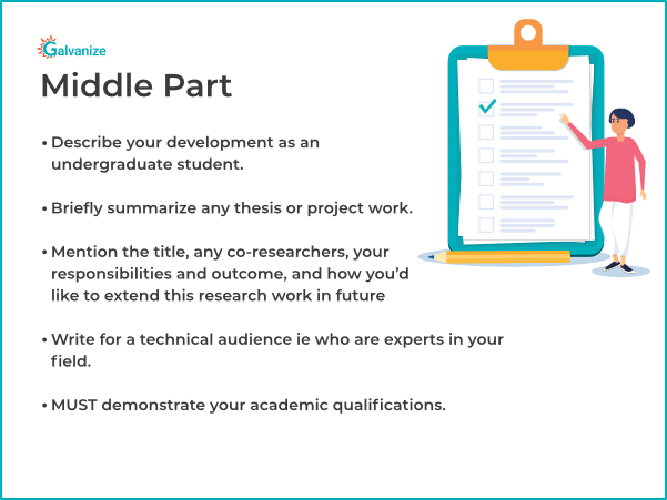Statement of purpose template for middle part paragraph