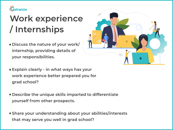 Statement of Purpose for internships or job experience