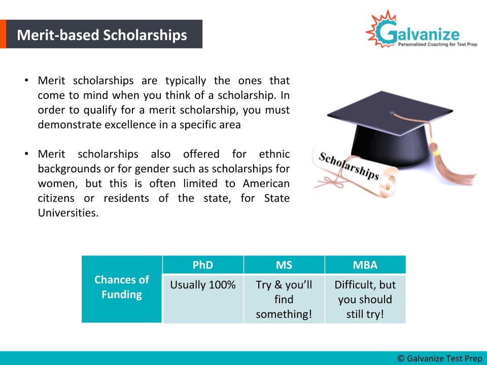 Merit-based scholarships for international students