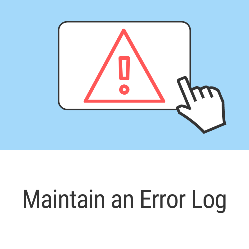 Maintain an Error Log and review during GRE Preparation