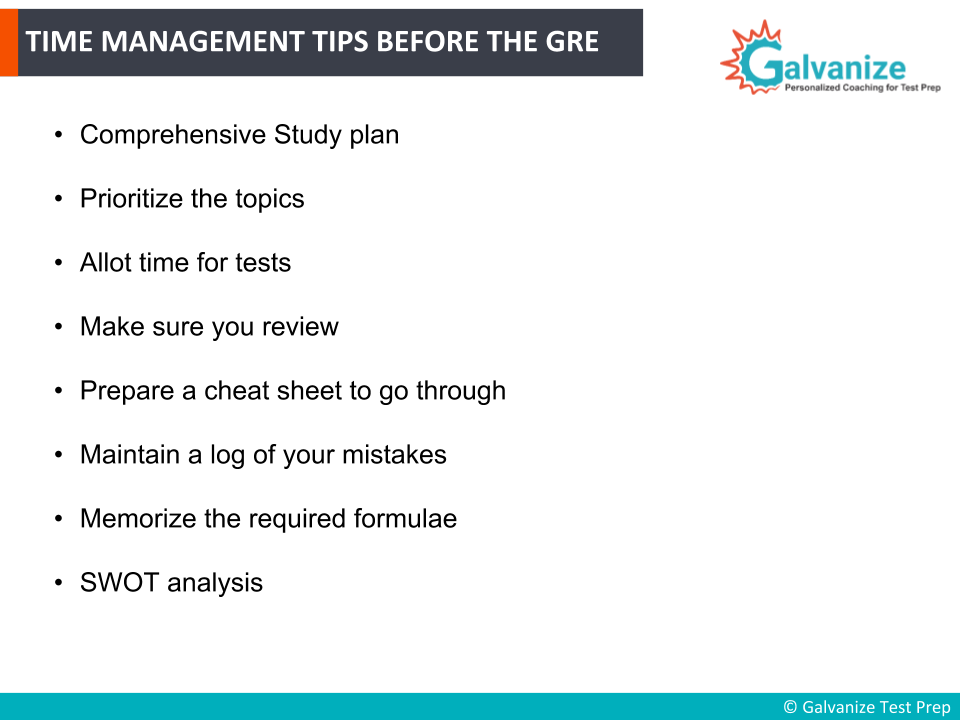 Time Management tips before GRE Exam