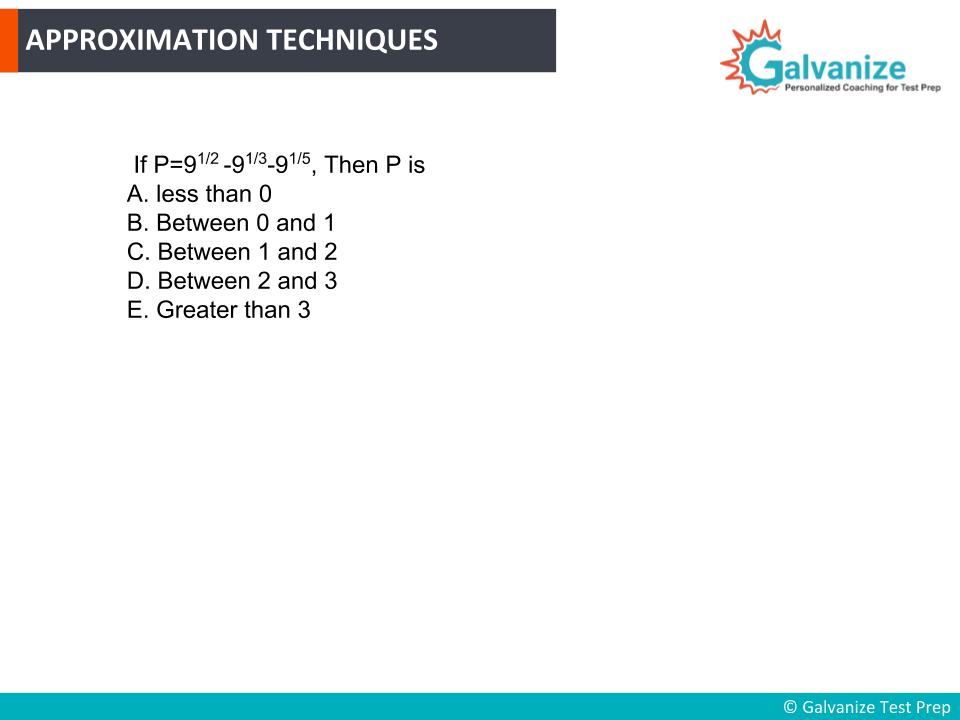 Approximation Techniques for GRE Math Practice Question