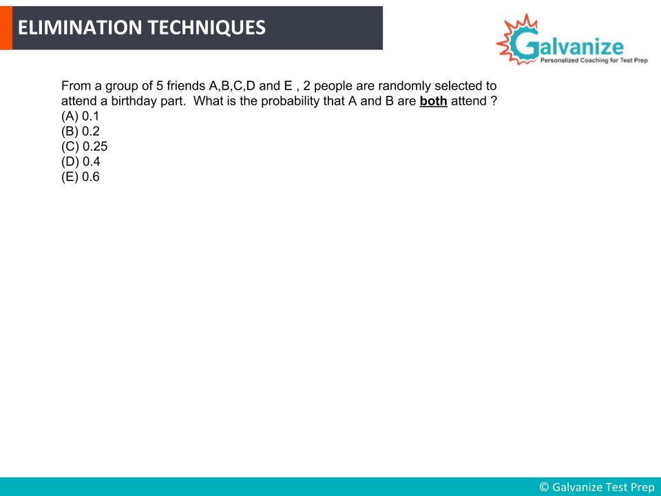 Elimination Techniques for GRE Math Practice Questions