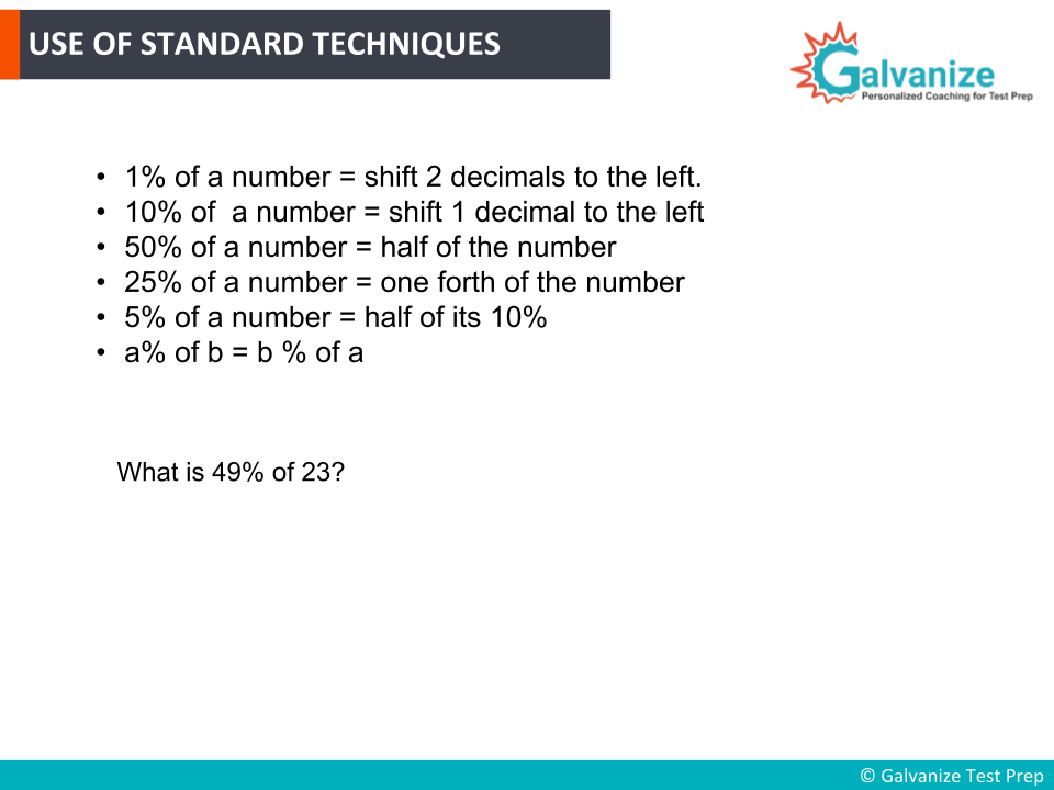 Use of Standard techniques for GRE Math Practice Questions