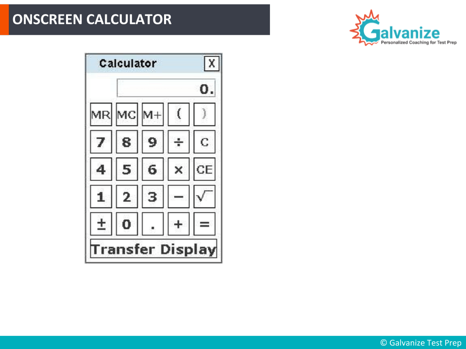 Onscreen Calculator in GRE Exam