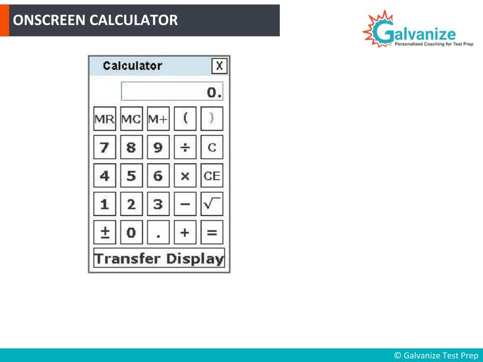 Onscreen Calculator in GRE Exam