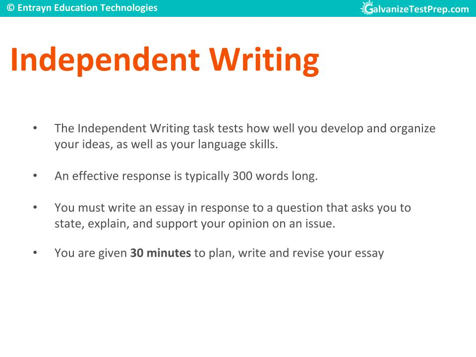 TOEFL Writing Section - Independant Type Questions