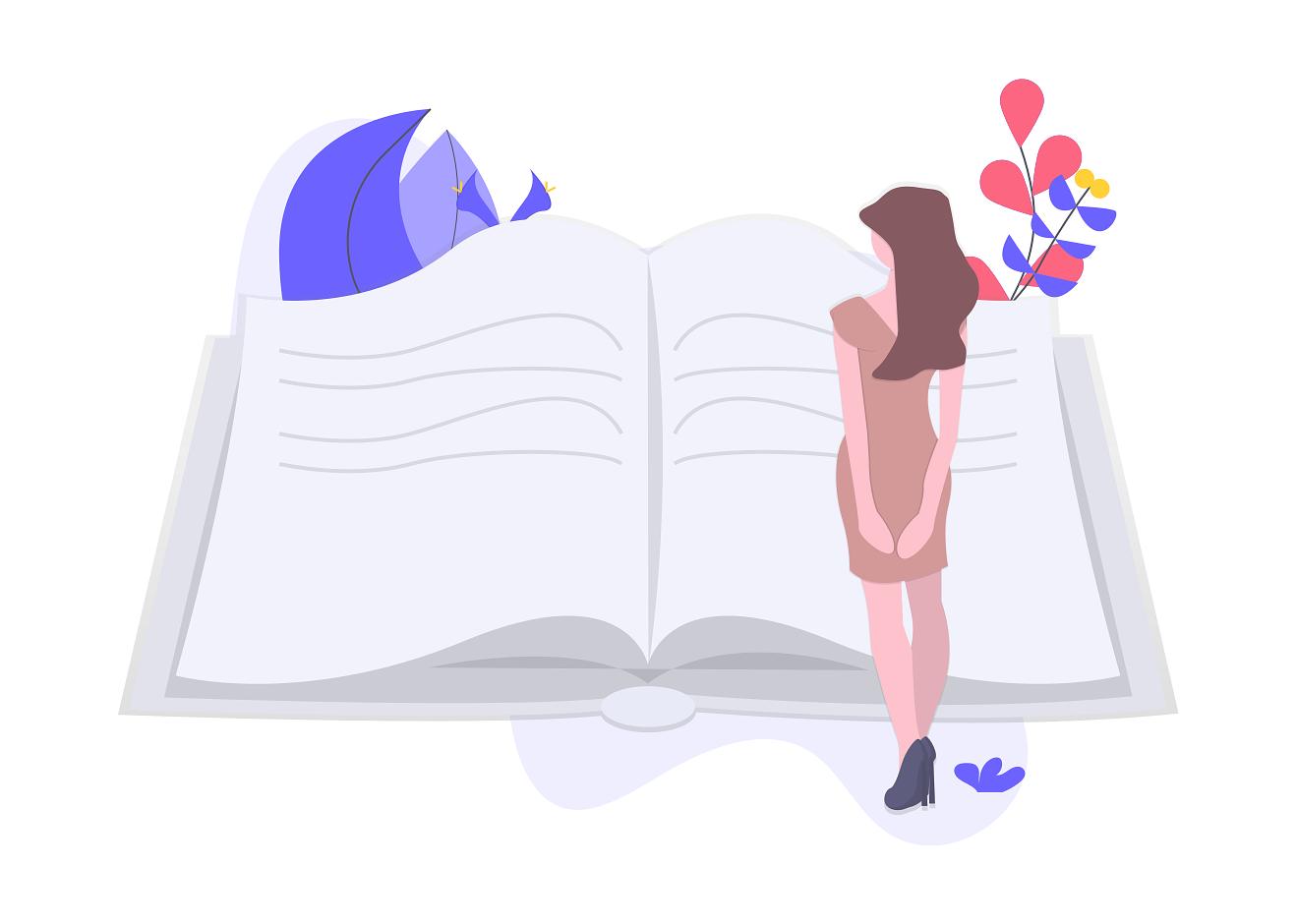 Girl Reading TOEFL Blog